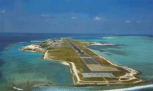Flughafen Male Ankunft