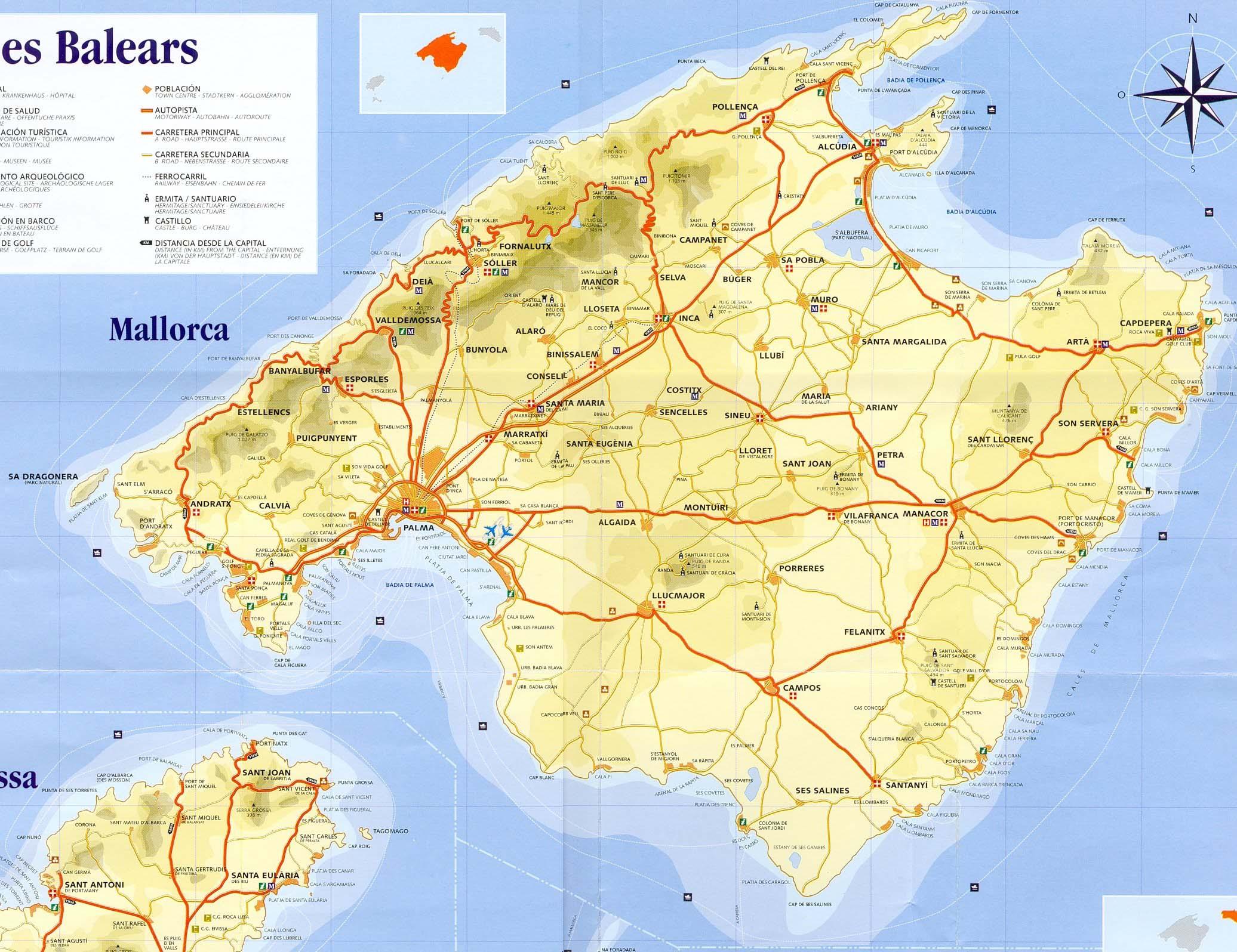 landkarte mallorca